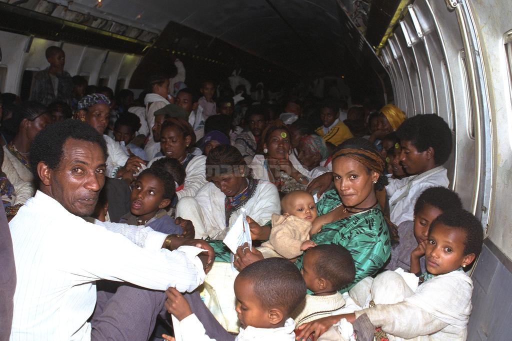 יהודי אתיופיה במטוס. באדיבות: לשכת העיתונות הממשלתית