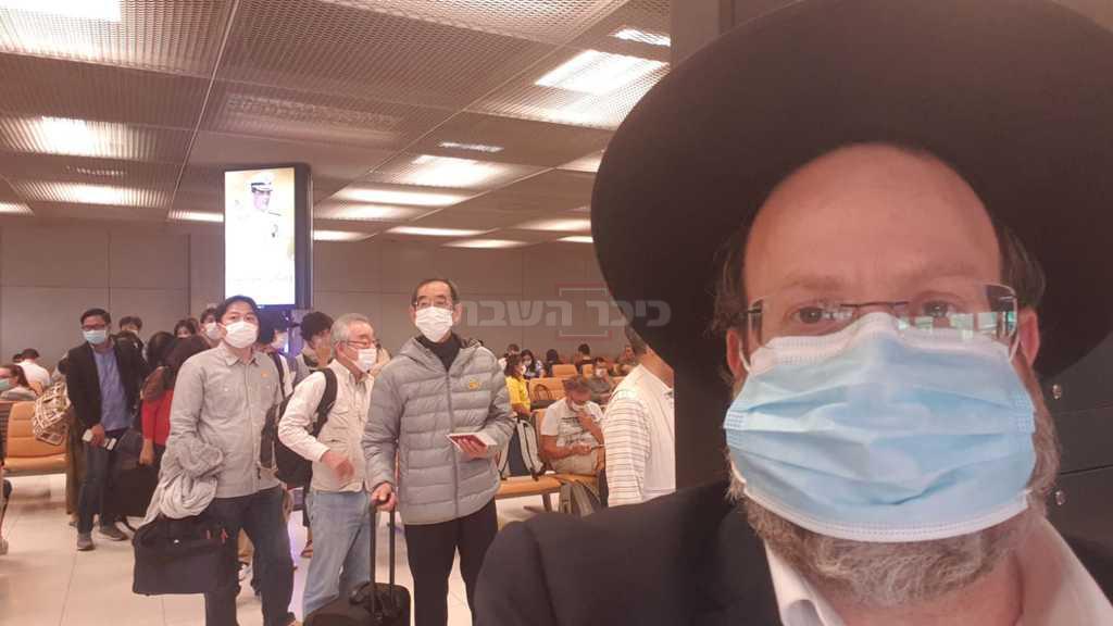 הרב דורפמן בשדה התעופה בתאילנד (באדיבות המצולם)