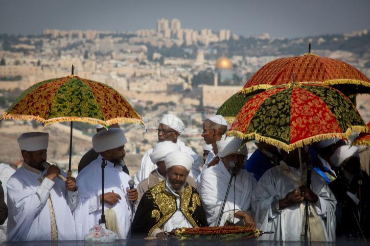 חגיגות הסגד בארמון הנציב מול הר הבית (מרים אלסטר, פלאש 909