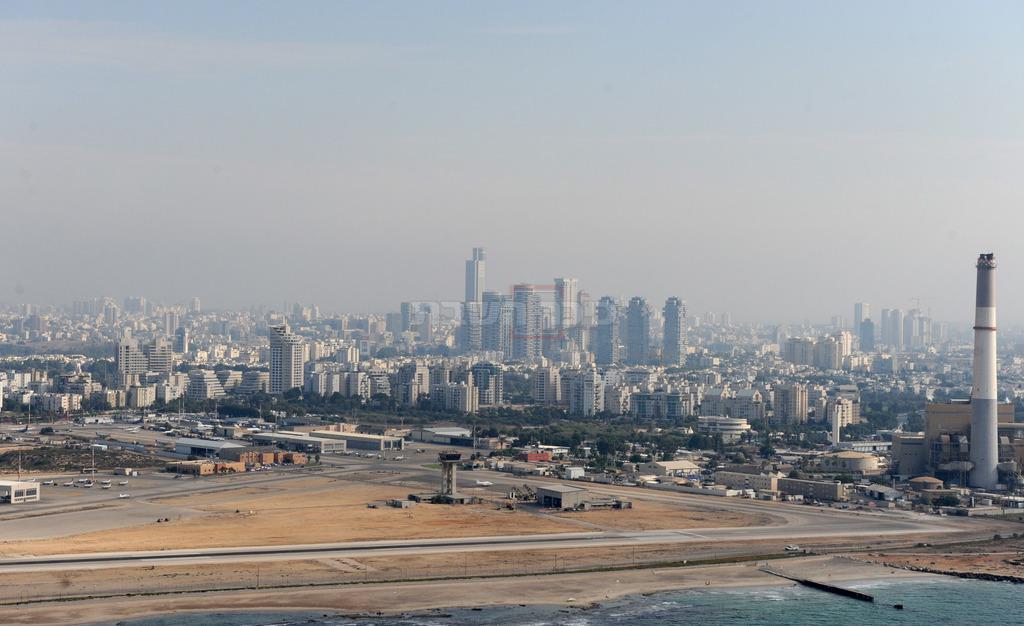 צילום אווירי של העיר חדרה, 2012 (צילום: Mark Neyman, לע''מ)