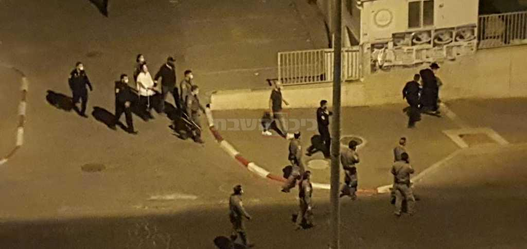 פעילות המעצרים, הלילה (צילום: מחאות החרדים הקיצוניים)