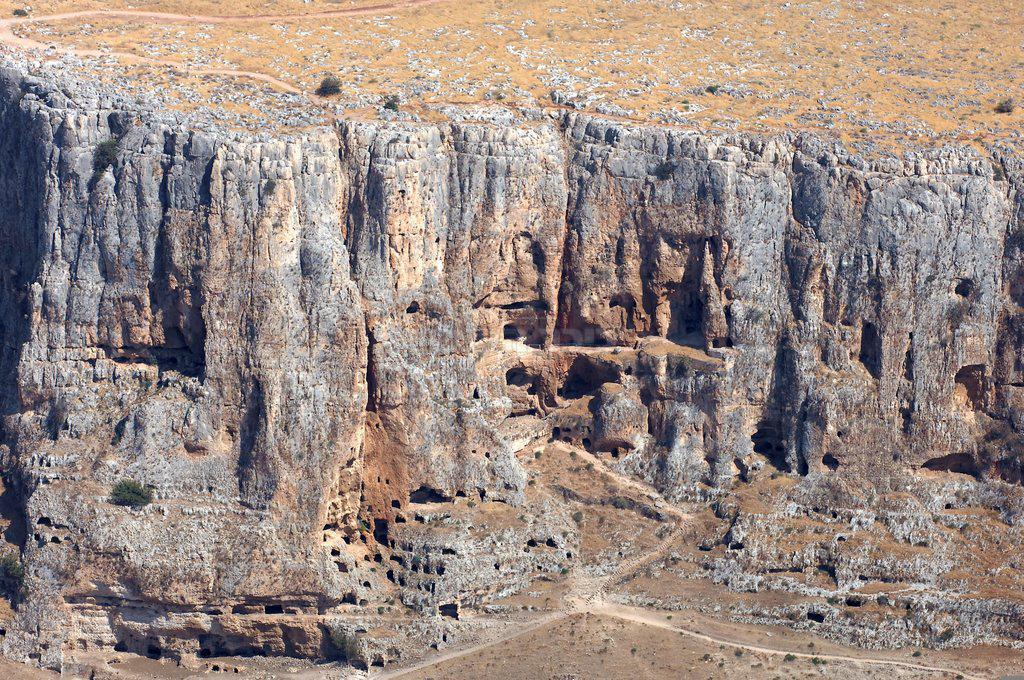 צילום אוויר של הר הארבל, סמוך לכנרת (צילום: MOSHE MILNER, לע''מ)