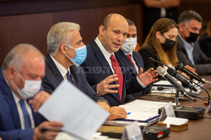 ישיבת הממשלה היום (צילום: Emil Salman/POOL)