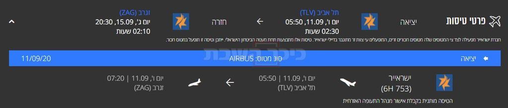הטיסה אחרי השינוי