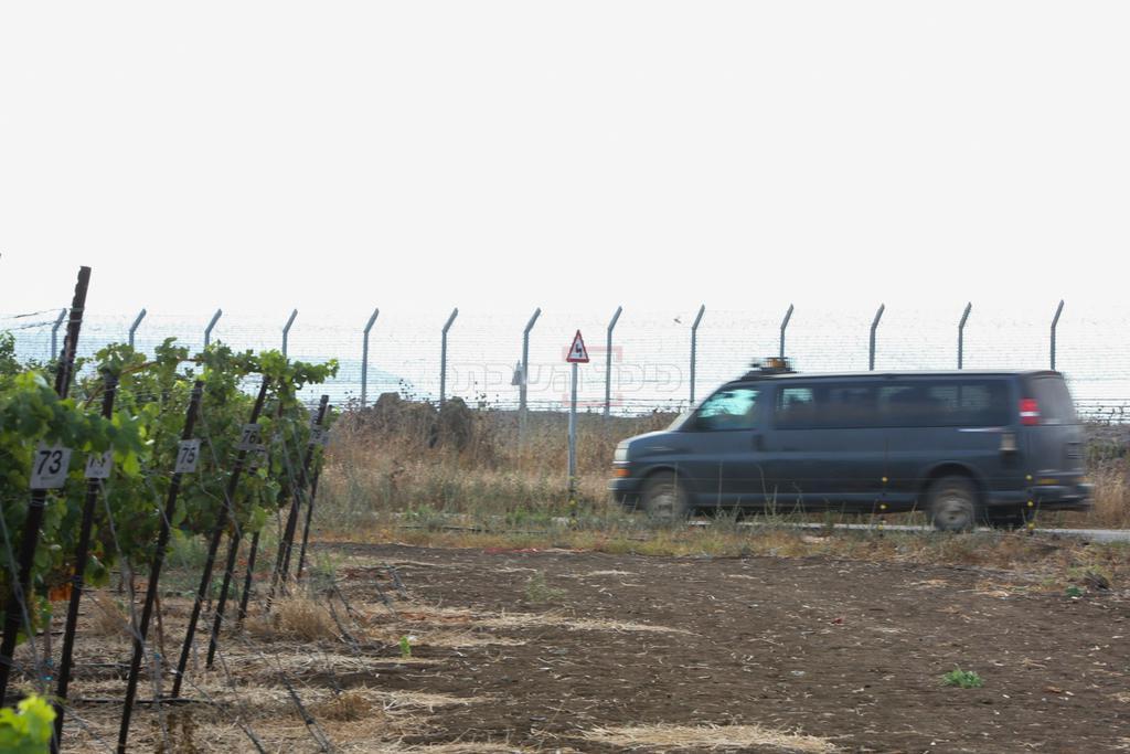 כוח צה''ל בגבול סוריה-ישראל, הבוקר (צילום:  Maor Kinsbursky/Flash90)
