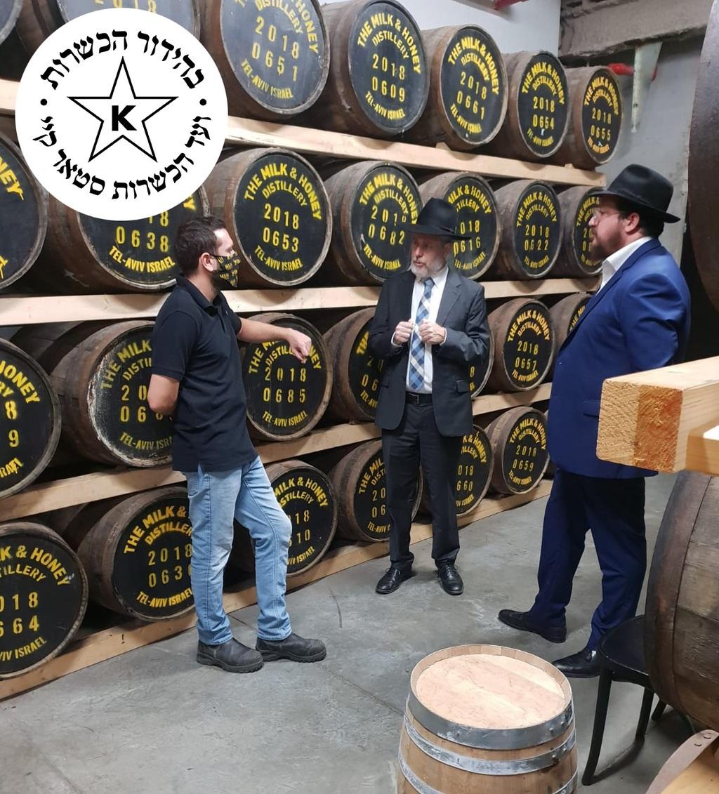 מזקקת ''חלב ודבש'', מתהדרת בתוצרת וויסקי ישראלי משובח בכשרות מהודרת