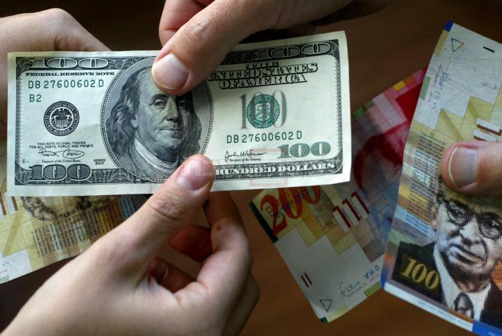 השקל מול הדולר (צילום: Olivier Fitoussi/Flash90)