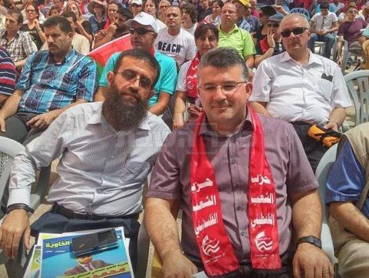 ג'בארין, עם הטרוריסט הבכיר (צילום: מתוך פייסבוק)