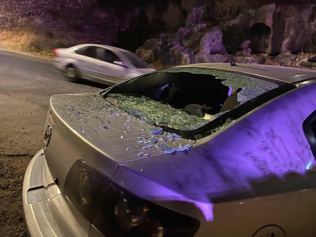 אחד הרכבים שנפגעו (יאיר שרקי)