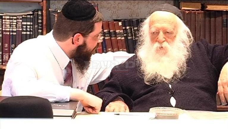 מרן שר התורה עם תלמידו הקרוב הרה''ג אורי טיגר