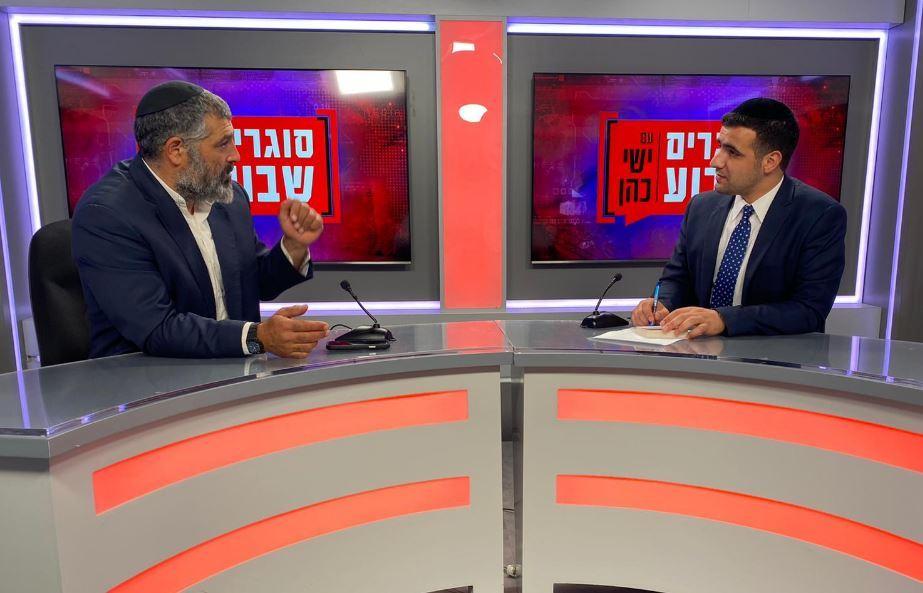 צבי יחזקאלי באולפן 'כיכר השבת'