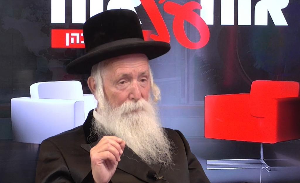 הרב יצחק דוד גרוסמן באולפן 'כיכר השבת'