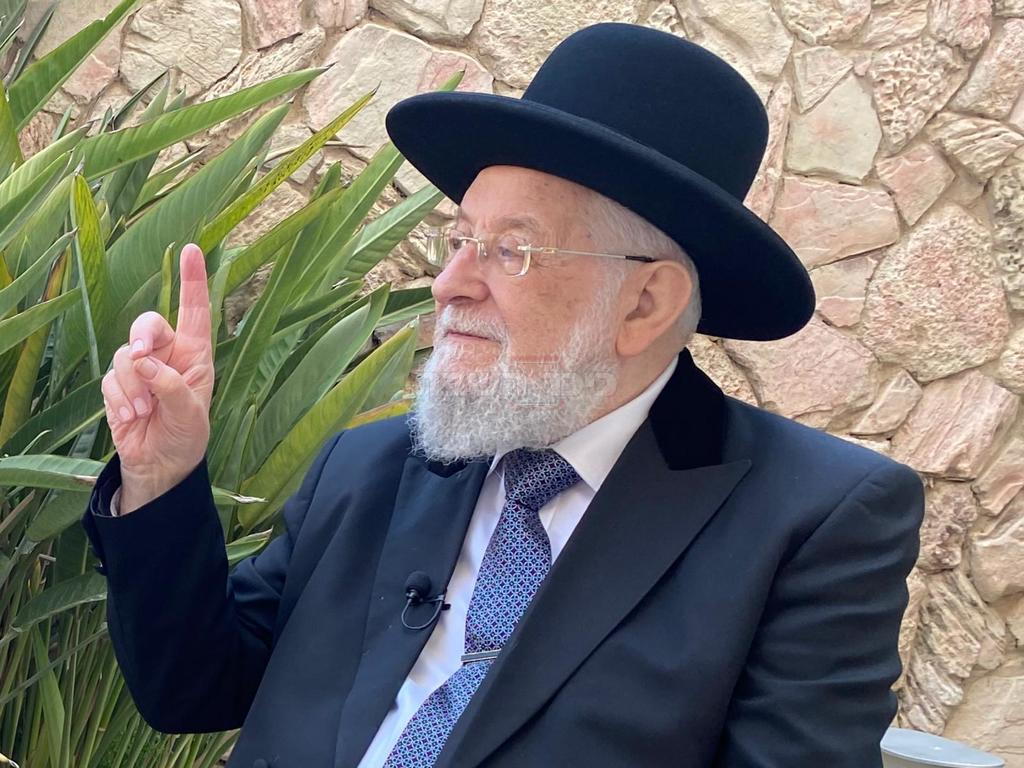 הרב ישראל מאיר לאו (צילום: יוחנן בלייך)