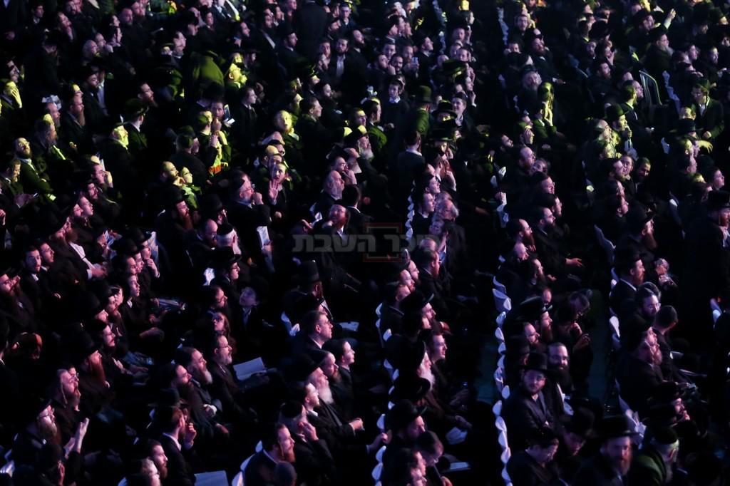 מעמד סיום הש''ס בארנה (צילום: חיים גולדברג, כיכר השבת)