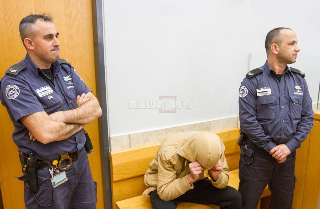 הרוצח רושרוש בבית המשפט (צילום ארכיון: FLASH90)