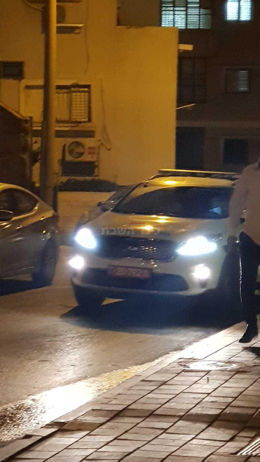 המשטרה שהוזעקה (צילום: ישראל, השכן)
