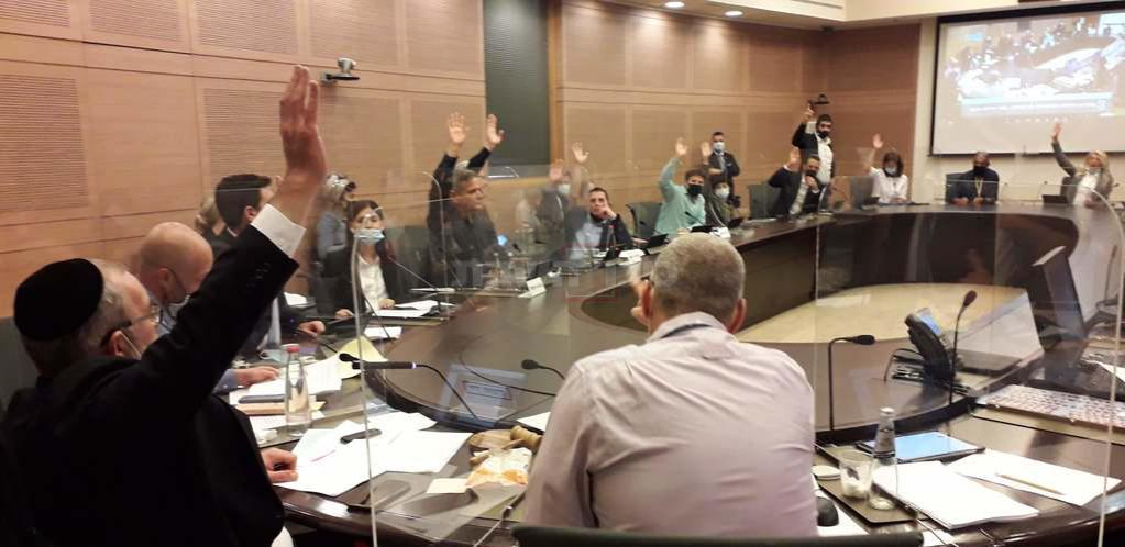 ההצבעה היום בוועד החוקה (צילום: שני שם טוב, דוברות הכנסת)