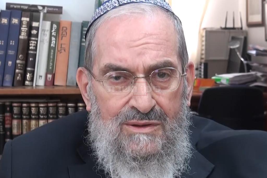 הרב יעקב ורהפטיג (צילום: יוחנן בלייך, כיכר השבת)