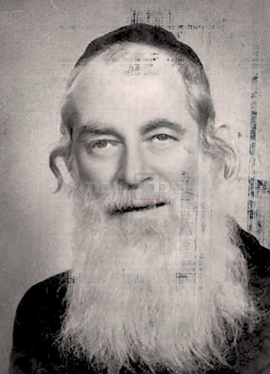 רבי משה יקותיאל אלפרט (צילום: מתוך הספר ''יומנו של מוכתר בירושלים'', הרב ישראל שפר)
