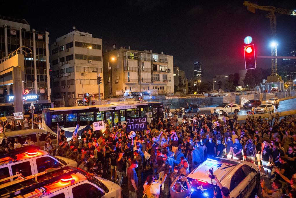 ההפגנה בתל אביב (צילום: מרים אלסטר - פלאש 90)