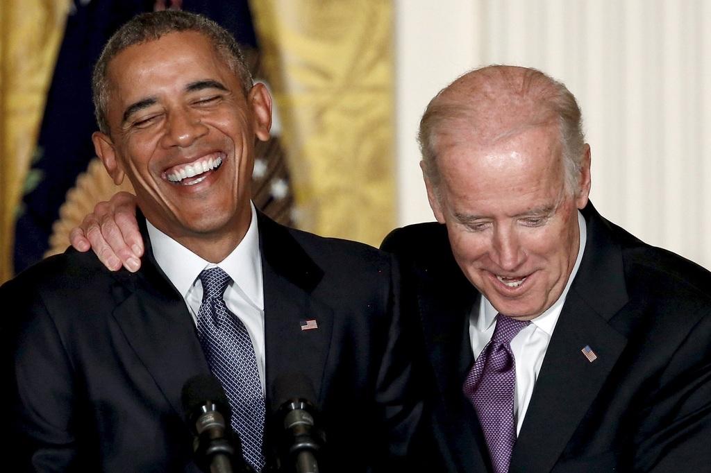 הסגן ביידן, הנשיא אובמה (צילום: shutterstock)