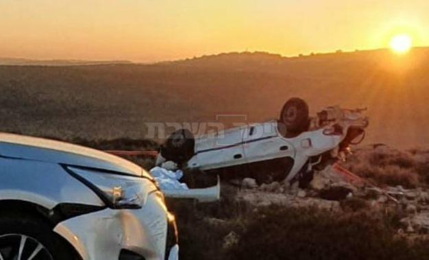 זירת התאונה (צילום: דוברות)