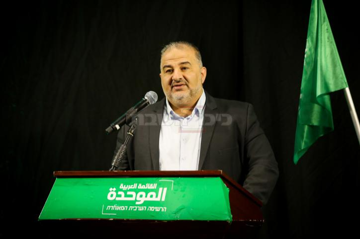ח''כ עבאס, בנאומו האחרון (צילום: דוד כהן, פלאש 90)