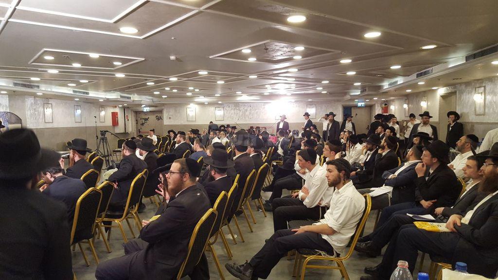 הקהל בוועידה השנתית (צילום: באדיבות ''אגודת קדושת ציון'')