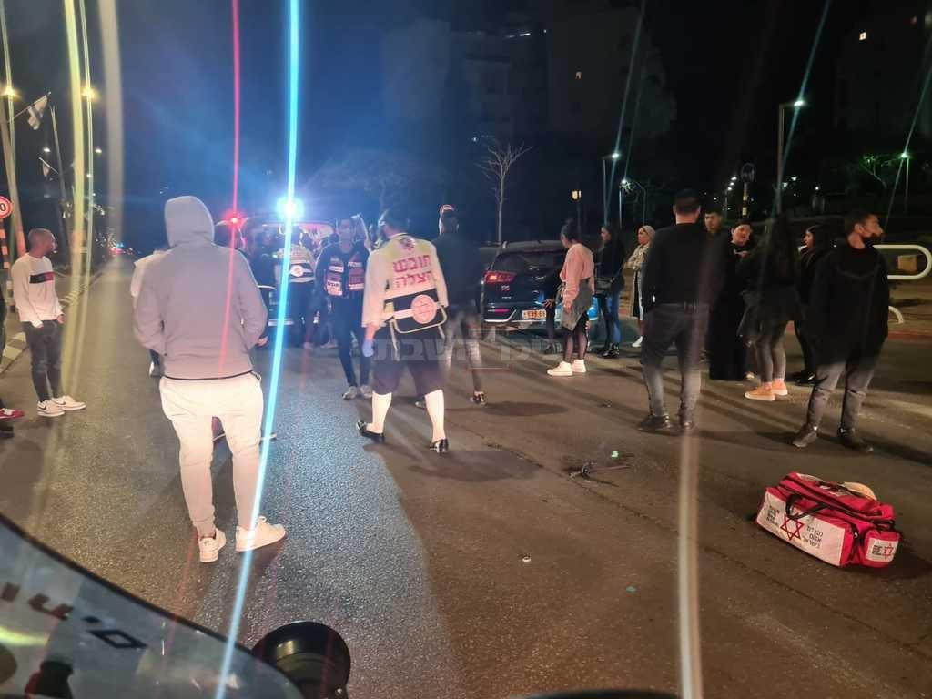 זירת התאונה (צילום: דוברות ארגון הצלה)