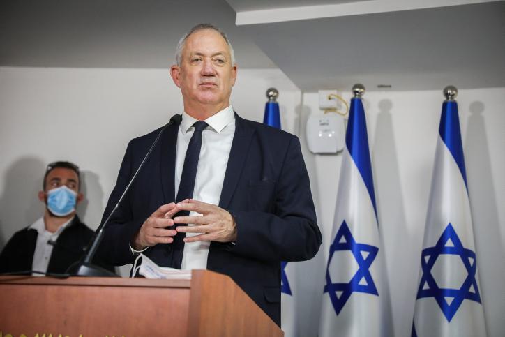 שר הביטחון גנץ. נלחם למען ועדת החקירה הממלכתית (צילום: אוליבייה פיטוסי, פלאש 90)