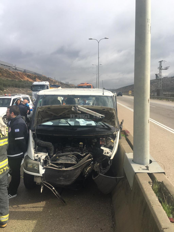 הרכב בזירת התאונה (צילום: דוברות המשטרה)