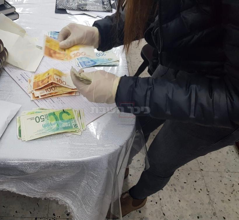 כספים שנתפסו (צילום: דוברות המשטרה)