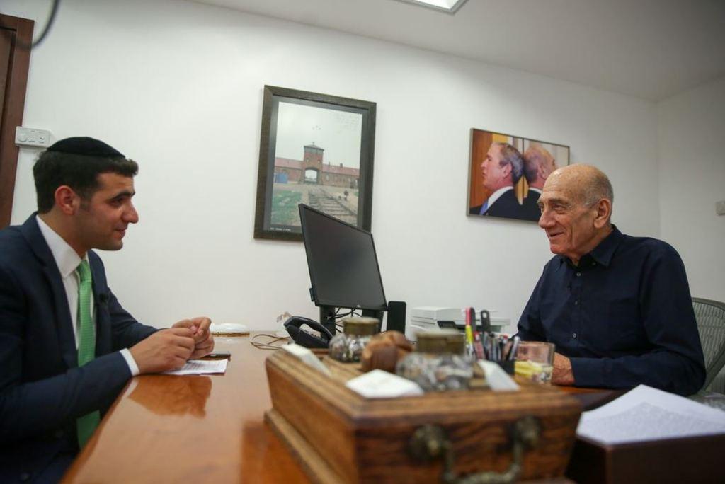 אהוד אולמרט בראיון לישי כהן