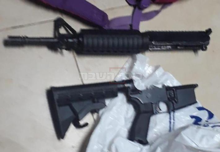 נשק שנמצא בפשיטת הכוחות (צילום: דובר צה''ל)