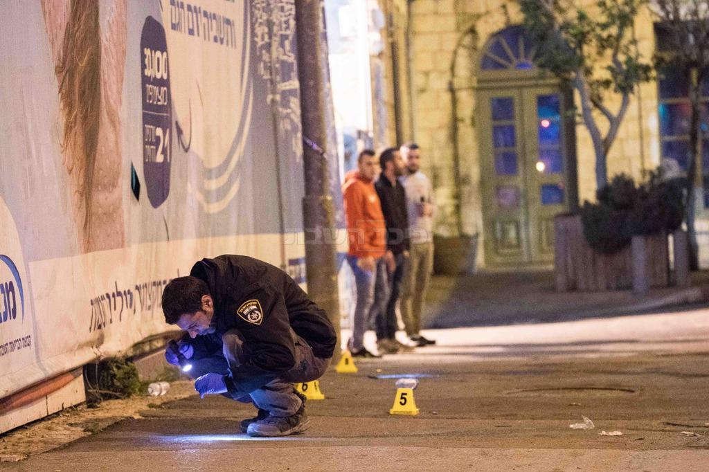 זירת הפיגוע בירושלים (צילום: חיים גולדברג, כיכר השבת)