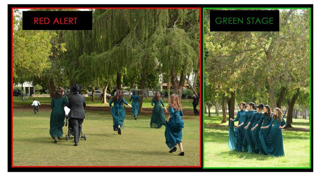 מימין: בצילומים; משמאל: הבריחה (צילום: אריאל רבינסקי)