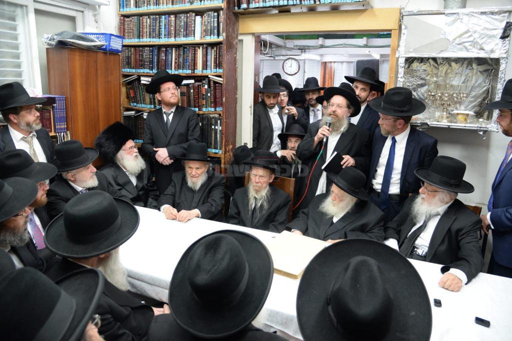 כינוס התמיכה של גדולי ישראל ביצחק פינדרוס (באדיבות המצלם)