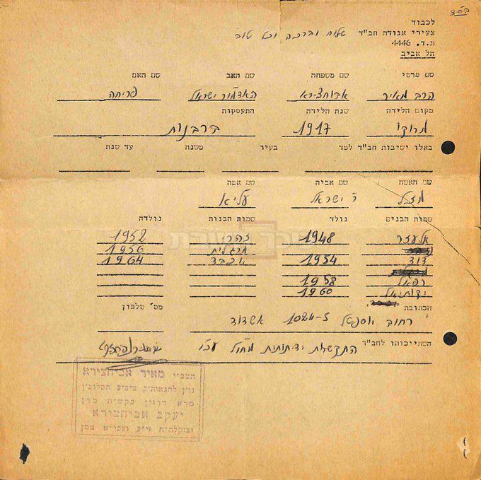 המכתב של באבא מאיר (באדיבות ספריית חב''ד העולמית)