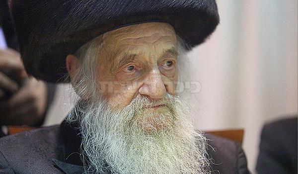 האב הגדול, מרן בעל 'שבט הלוי' זצ''ל (צילום: מאיר אלפסי)