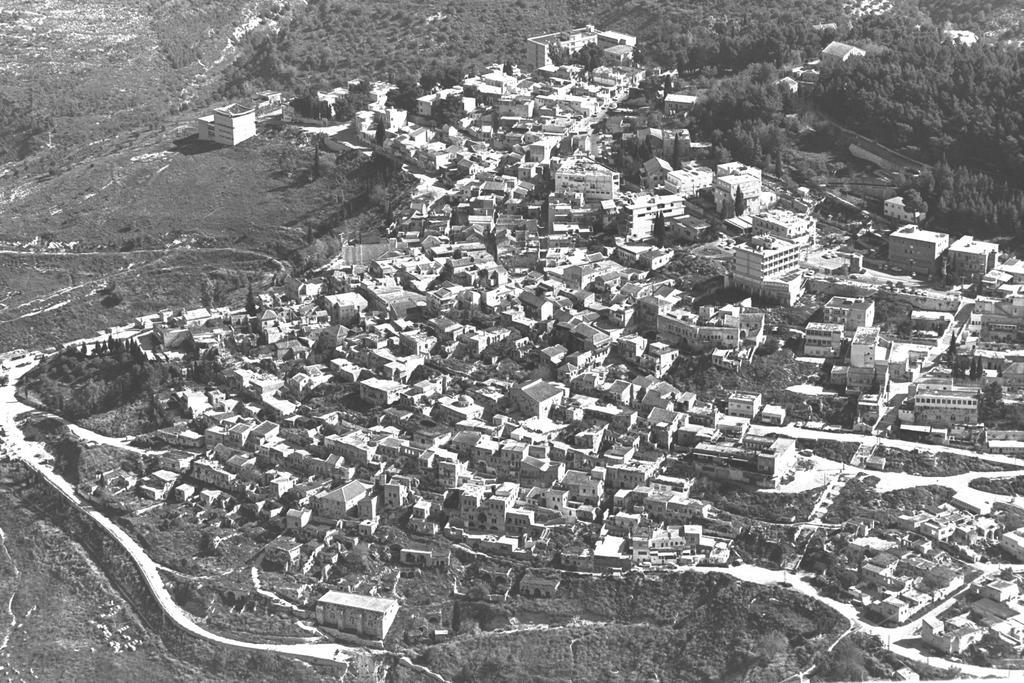 צפת מהאוויר, ב-1970 (צילום: MILNER MOSHE, לע''מ)