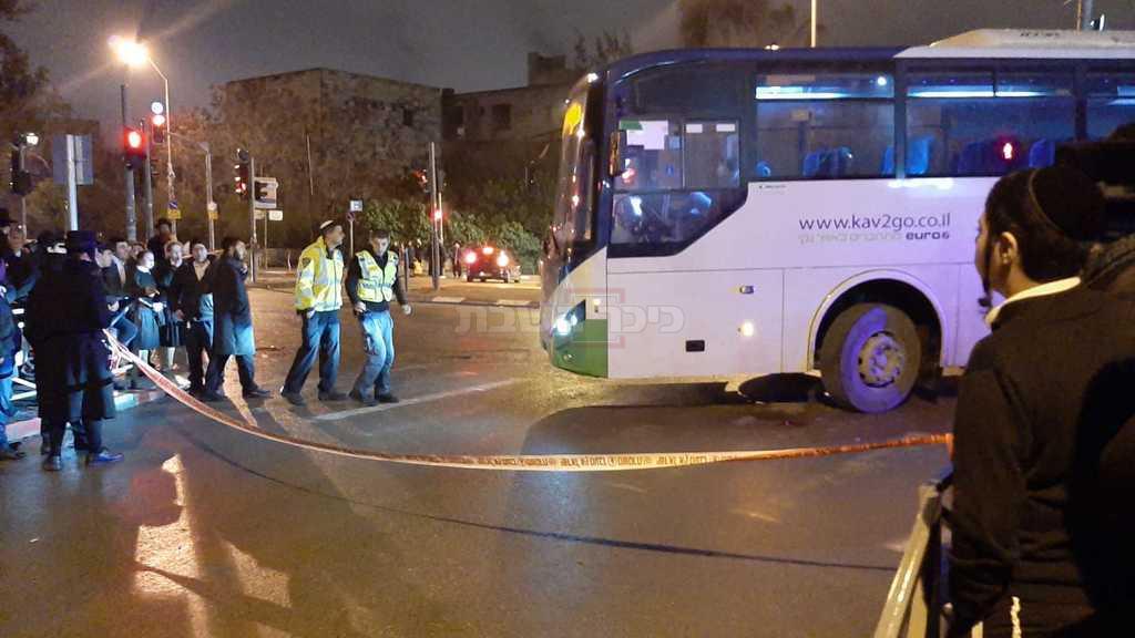 זירת התאונה (צילום: חיים גולדברג, כיכר השבת)