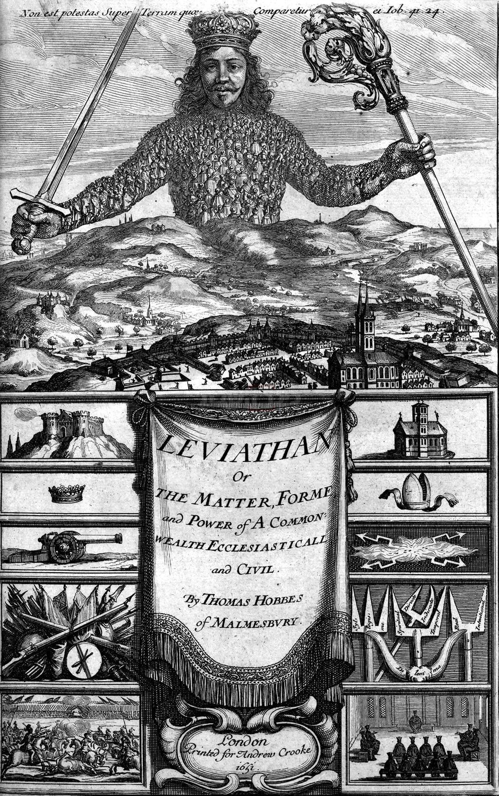האיור בכריכה של הספר לויתן (מתוך המכלול-ויקיפדיה)