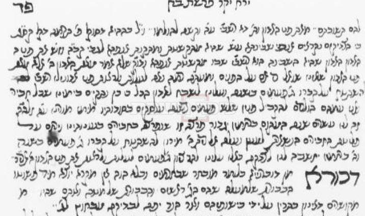 כתב היד נחשף (באדיבות הרב יחיאל גולדהבר )