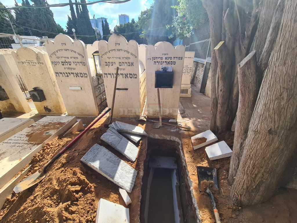 מקום קבורתו של האדמו''ר זצ''ל (באדיבות המצלם)