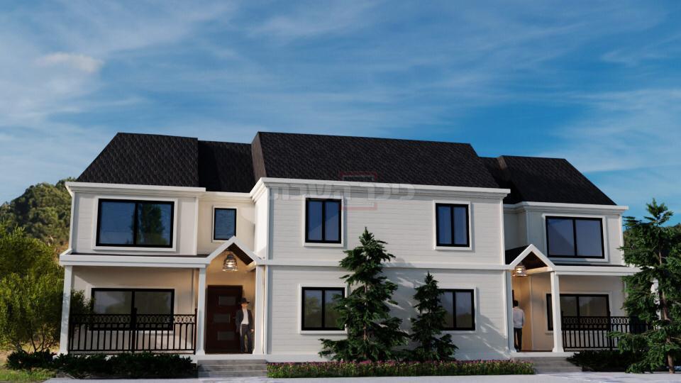 מודל של הבתים שיוקמו