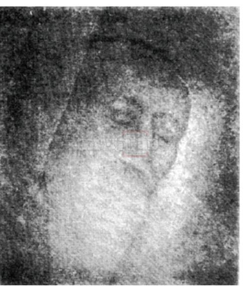 תמונתו של הגאון ה'שאגת אריה' שצולמה לאחר פטירתו (הובא בקובץ תורני עץ חיים (בובוב))