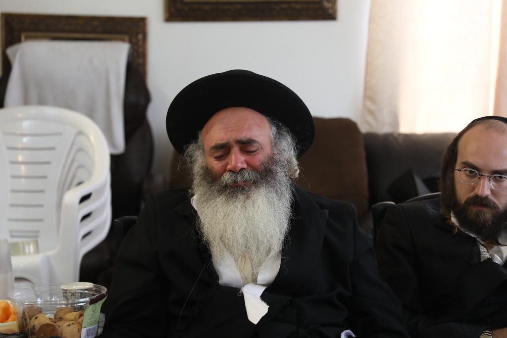 הרב אלחדד בריאיון (צילום: חיים גולדברג)