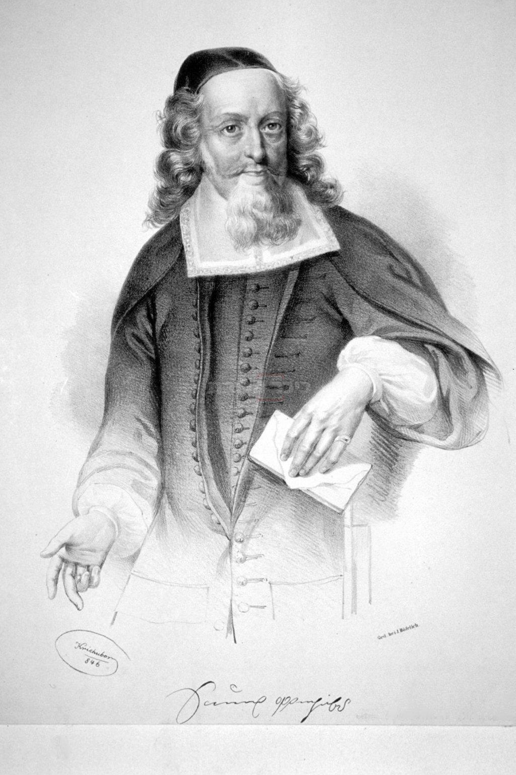 ר' שמואל אופנהיימר (מאת Josef Kriehuber - Eigenes Foto einer Originallithographie der Albertina (Wien), מתוך ויקיפדיה)