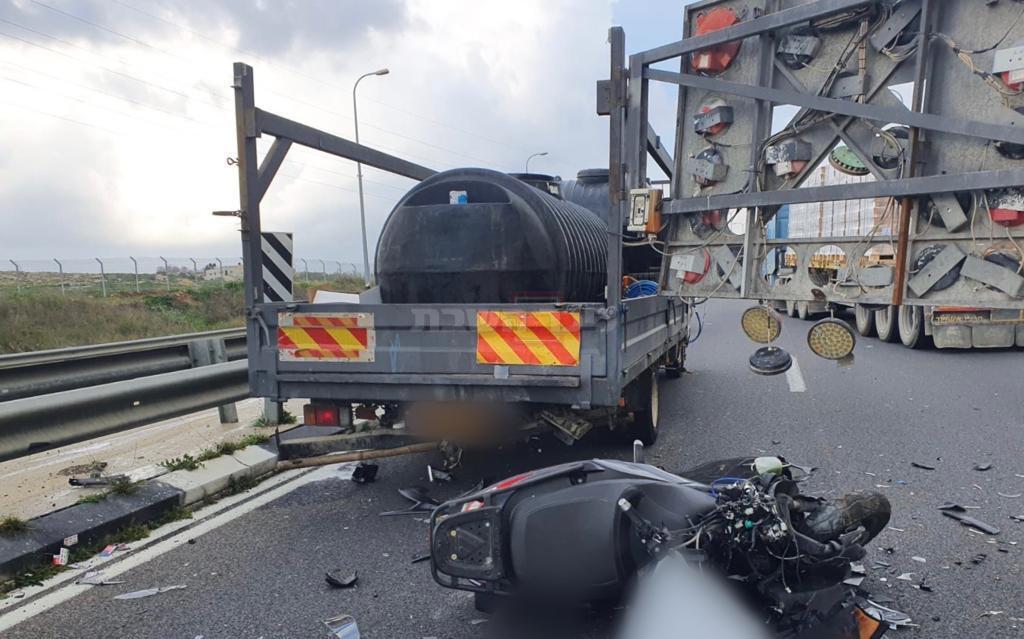 התאונה היום (צילום: תיעוד מבצעי מד''א)