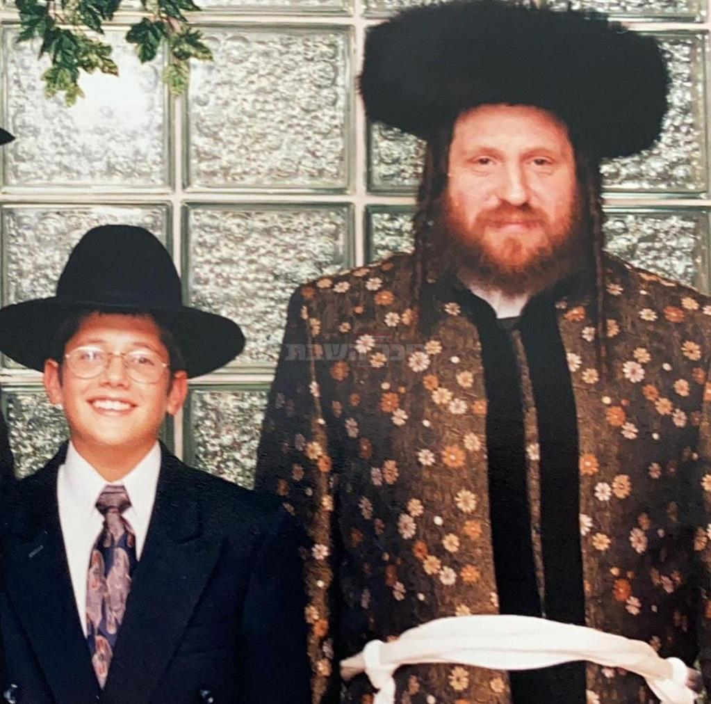 חילי סורוצקין כילד, לצד דודו הרבי מפיטסבורג